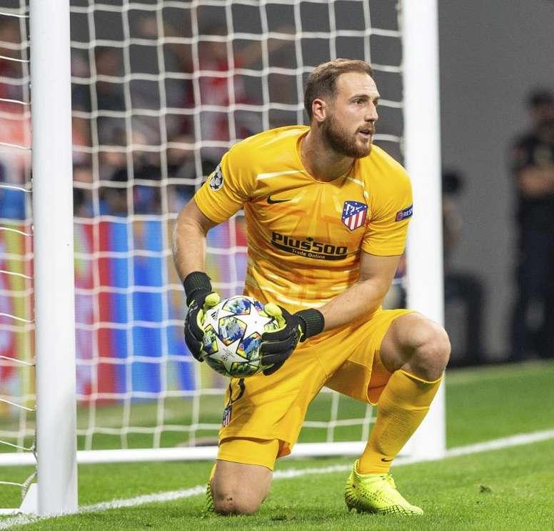 Jan Oblak, portiere sloveno dell'Atletico e' una garanzia dei colchoneros da diverse stagioni. Goal