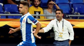Gallego lamentó el empate. EFE