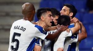 Le record historique de l'Espanyol en Europe. EFE/ Enric Fontcuberta.