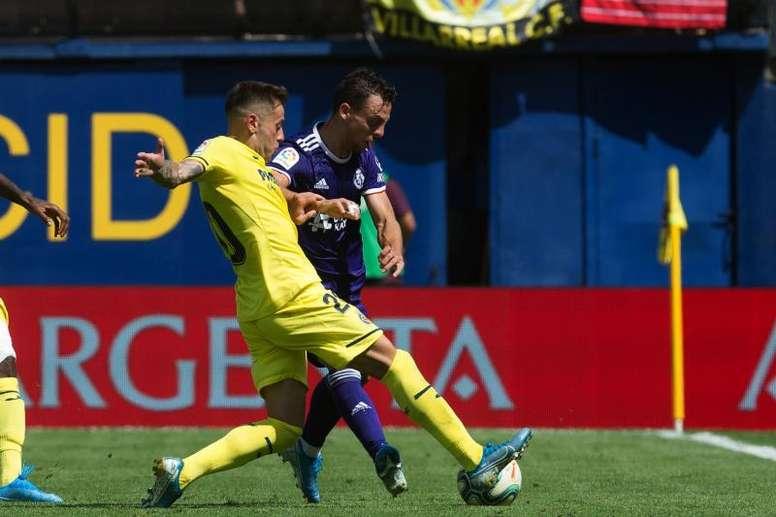 Óscar Plano habló del juego ofensivo del equipo. EFE