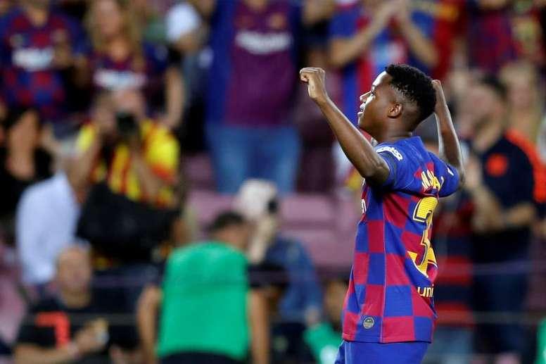 Ansu Fati já pode ser convocado pela Espanha. EFE/Toni Albir/Archivo