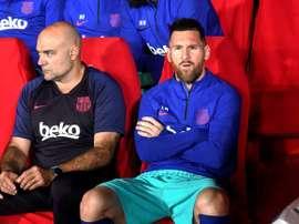 Messi tente de remettre de l'ordre dans la maison Barça. EFE
