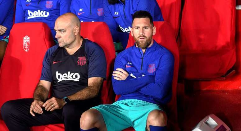 Messi was not a happy man after his team were beaten by Granada. EFE