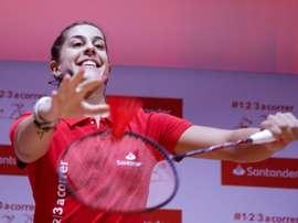 La campeona olímpica y mundial de Bádminton, Carolina Marín. EFE/David Fernández/Archivo