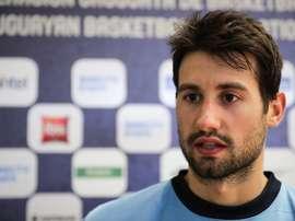 El jugador del San Pablo Burgos Bruno Fitipaldo. EFE/Raúl Martínez/Archivo