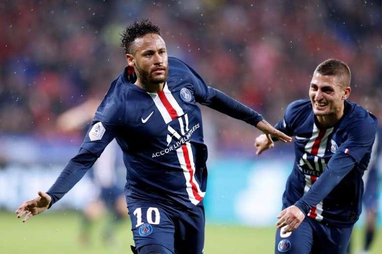 Estrela de Neymar volta a brilhar e o PSG agradece. EFE