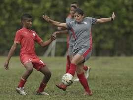 El fútbol femenino en Colombia está en auge. EFE
