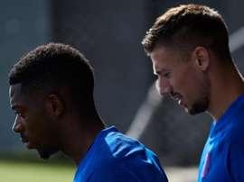 Lenglet went over Barça's latest news. EFE
