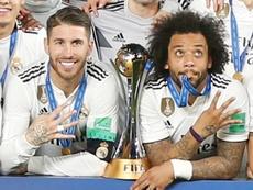 El Madrid ganó un particular 'Clásico' al Barça en la gala 'The Best'. EFE