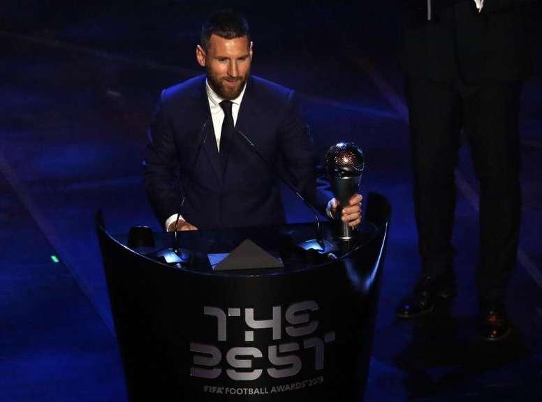 Lionel Messi wins The Best 2019. EFE