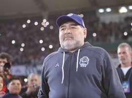 Primera victoria de Maradona ante nueve jugadores. EFE/NicolasAguilera