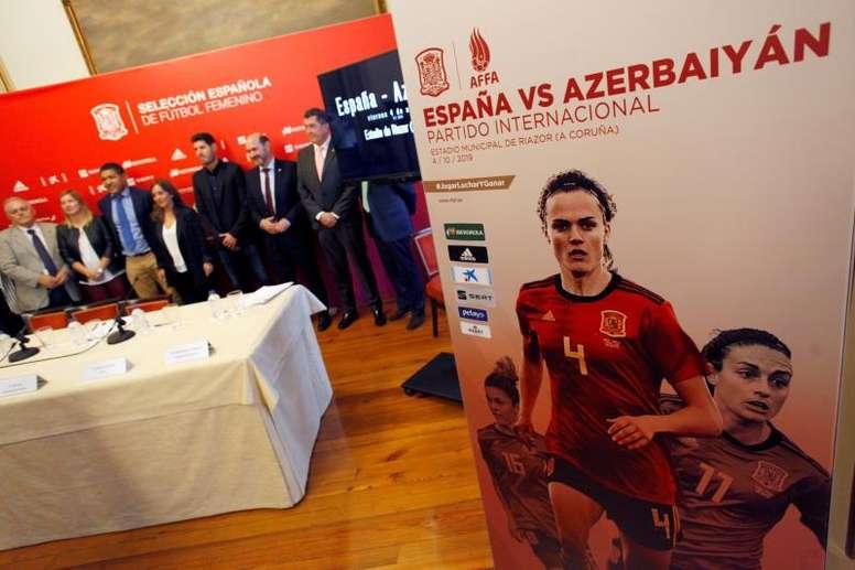 España Femenina recibe a Azerbaiyán. EFE