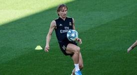 El susto de Modric en el vuelo de regreso a Croacia. EFE/Rodrígo Jiménez/Archivo
