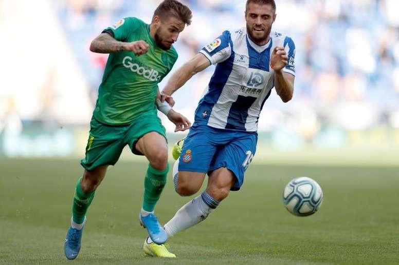 Portu, el máximo asistente de la Real Sociedad. EFE/Alberto Estévez