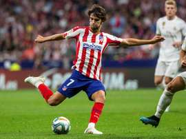 Some Atletico fans were not happy to see Joao Felix taken off for Marcos Llorente. EFE