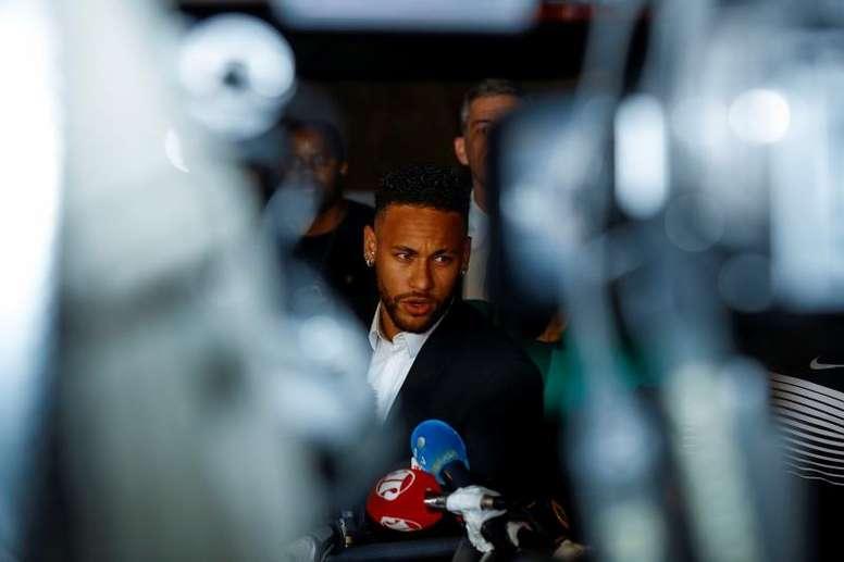 Court denies that Najila Trindade threatened Neymar. EFE/Marcelo Chello/Archivo