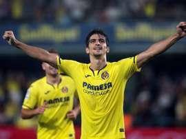 L'accueil des supporteurs de l'Espanyol à Gerard Moreno. EFE