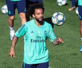 Marcelo desfalca o Real Madrid contra o Granada. EFE