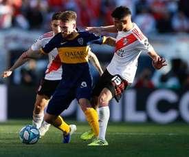 Palacios já quer voltar ao River. EFE/Juan Ignacio Roncoroni