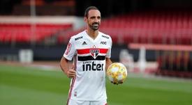 Juanfran declaró su amor por el Atlético y Sao Paulo. EFE/Sebastião Moreira