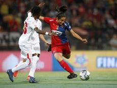 América de Cali se llevó su primera Liga femenina. EFE/Luis Eduardo Noriega A.
