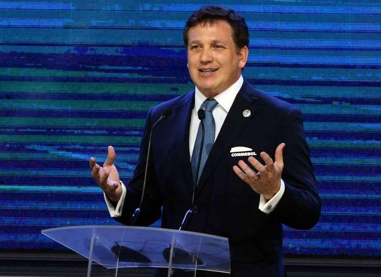 Alejandro Domínguez se refirió al ganador de la Sudamericana. EFE