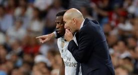 Rodrygo, Vinicius, Mariano...as dúvidas de Zidane para a final. EFE/Juanjo Martín