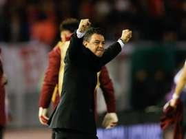 A impressionatnte marca de Gallardo: 51 vitórias em 62 decisões. EFE/Juan Ignacio Roncoroni