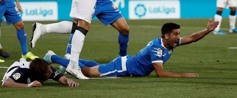 El Getafe confirmó la rotura del menisco de Markel Bergara. EFE