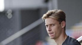 Frenkie de Jong is suspended for Setien's first match as Barca coach. EFE/ Alejandro García/Archivo