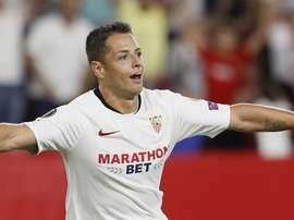 Chicharito, titulaire pour la première fois en Liga. EFE