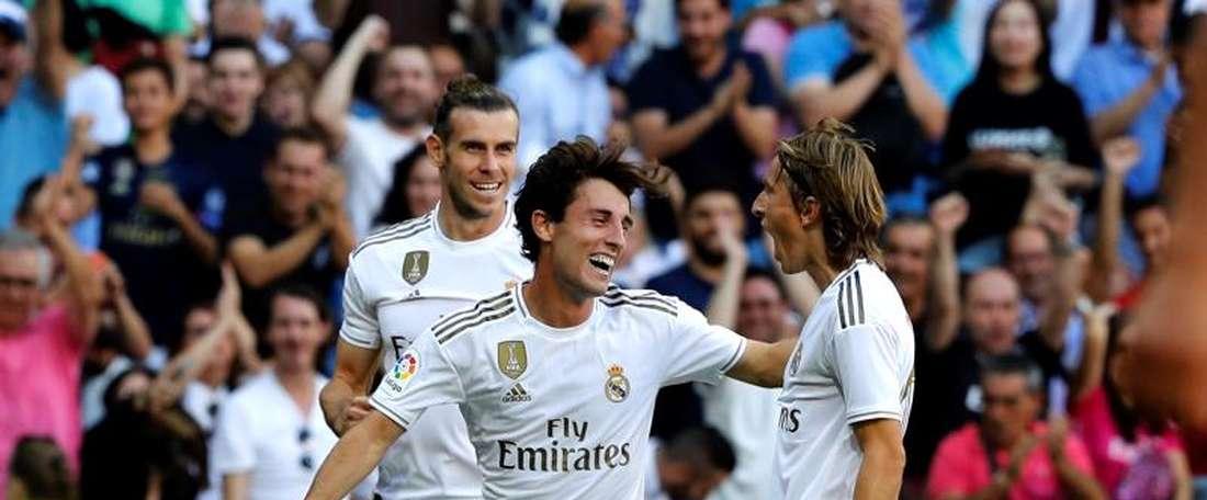 Real Madrid quase deixa empatar, mas ganha por 4 a 2. EFE/Juan Carlos Hidalgo