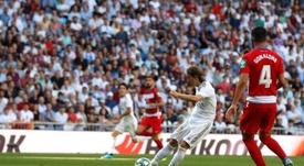 Luka Modric, 'raza blanca tirador'. EFE
