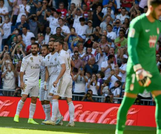 O Real Madrid é o líder com 18 pontos e 16 gols marcados. EFE/Fernando Villar
