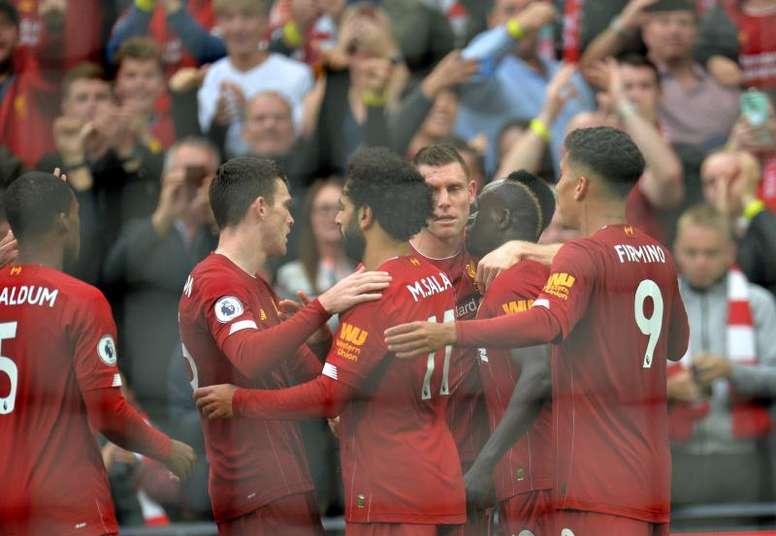 O Liverpool tem oito vitórias em oito jogos pela Premier League. AFP