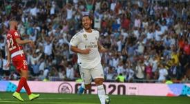 Hazard marcou o seu primeiro gol pelo Real Madrid. EFE