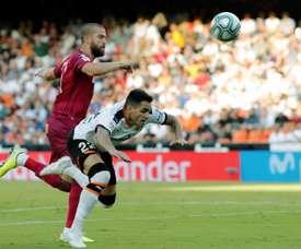 Maxi Gómez sofreu fratura em dedo do pé esquerdo. EFE/Juan Carlos Cárdenas