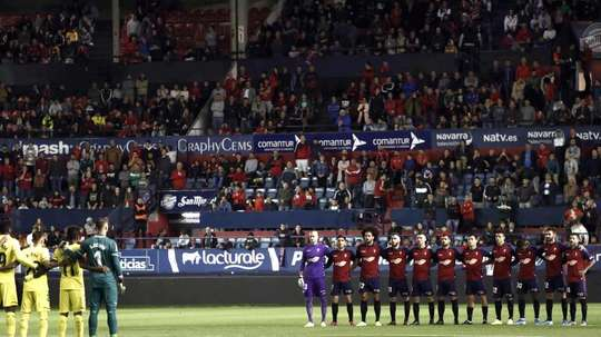 There will be a minute's silence prior to all La Liga and Segunda matches. EFE/Jesus Diges