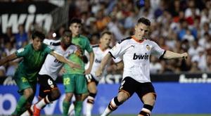 Gameiro vai com tudo a Madrid. EFE/Manuel Bruque