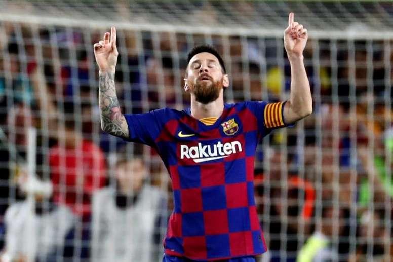 188 días después... Messi quiere marcar en casa en Champions. EFE/Toni Albir