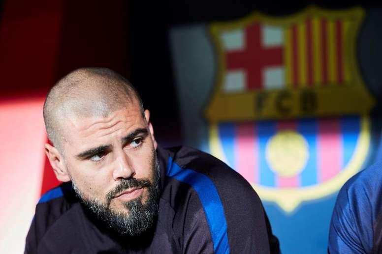 Apenas un par de meses después, Víctor Valdés deja el club azulgrana. EFE