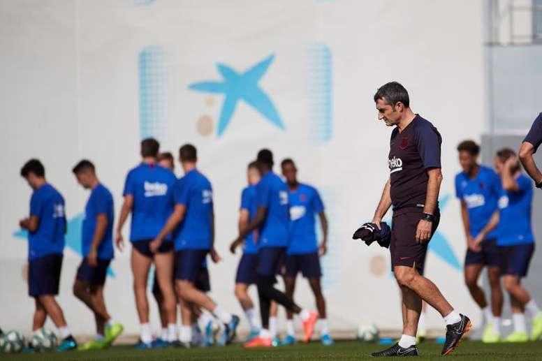 El Barça podría verse obligado a cambiar sus entrenamientos. EFE