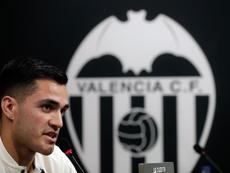 Ya acumula cuatro tantos con el Valencia. EFE