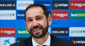 Machín acabó contento por la victoria del Espanyol. EFE/Alejandro García