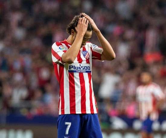L'Atlético Madrid confirme une entorse de la cheville de grade II pour Joao Félix. EFE