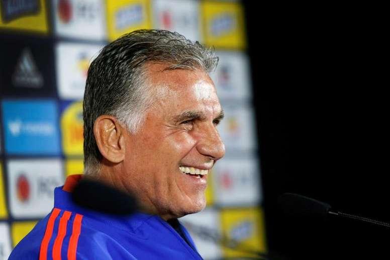 Queiroz se toma en serio el partido con Chile. EFE