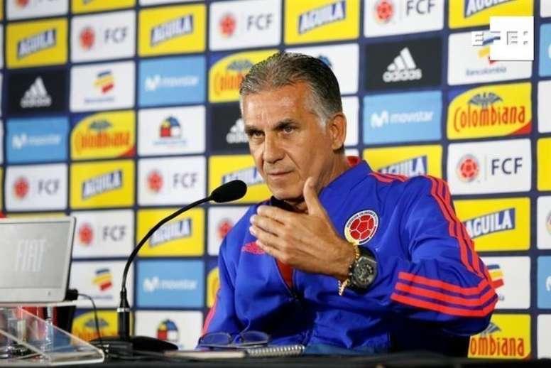 El seleccionador colombiano elogió el rendimiento del centrocampista Christian Rivera. EFE