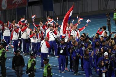 Paraguay había recibido el pasado junio la bandera de los Juegos Suramericanos de manos del país organizador anterior, Bolivia, y trabajaba desde entonces en preparar la cita de 2022, que incluía gastos de infraestructura y logísticos. EFE/Martin Alipaz/Archivo