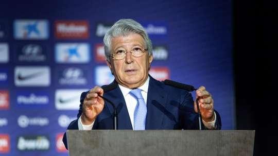 Cerezo disse que o acordo com a Barça não foi por Griezmann. EFE/ Rodrigo Jiménez