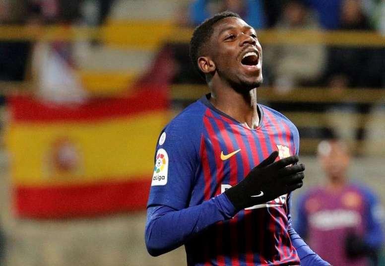 Le Barça fera appel des sanctions de Dembélé et Araujo. EFE